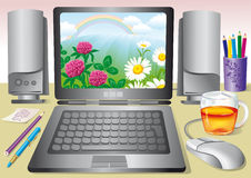 Illustration of the workplace Stock Photos