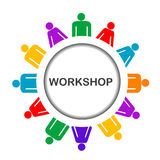 Illustration of workshop icon Stock Photography