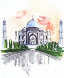 Illustration of the world famous mausoleum in India Royalty Free Stock Image