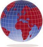 World globe. Illustration of a world globe Stock Image
