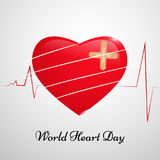 Illustration of World Heart Day Background. Illustration of elements of World Heart Day Background Stock Photos