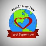 Illustration of World Heart Day Background. Illustration of elements of World Heart Day Background Stock Image