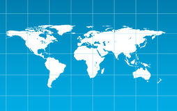 Illustration of world map Royalty Free Stock Photo