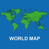 World map. Illustration of a world map Royalty Free Stock Photos