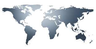 Illustration of the world map Stock Photography