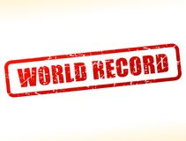 World record text buffered. Illustration of world record text buffered on white background Stock Images