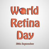 Illustration of World Retina Day Background. Illustration of elements of World Retina Day Background royalty free illustration