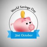 Illustration of World Saving Day Background. Illustration of elements of World Saving Day Background Royalty Free Stock Photos