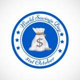Illustration of World Saving Day Background. Illustration of elements of World Saving Day Background Stock Photography