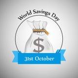 Illustration of World Saving Day Background. Illustration of elements of World Saving Day Background Stock Image
