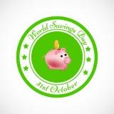 Illustration of World Saving Day Background. Illustration of elements of World Saving Day Background Royalty Free Stock Images