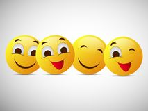 Illustration of World Smile Day Background Stock Images