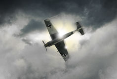 An illustration of a World War 2 German fighter Royalty Free Stock Image