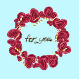 Illustration. Wreath of lollipops. For you. Stock Image