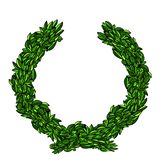 Wreath leaves stock images
