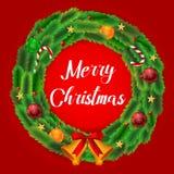 Wreath merry christmas royalty free illustration