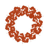 Illustration wreath with red petals on a white background. Stock Image