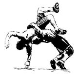 The illustration Wrestlers in fight Royalty Free Stock Photo