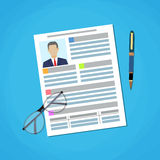 Illustration Writing a Business CV Resume Concept Stock Images