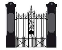 Illustration of a wrought iron gate. Vector illustration of a wrought iron gate vector illustration