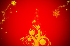 Illustration for xmas. Vector illustration for xmas on red background Stock Photo