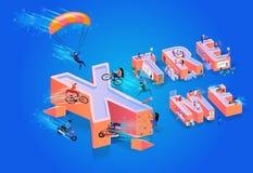 Illustration Xtreme de vecteur sur le fond bleu illustration libre de droits