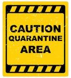 Caution quarantine area stock illustration