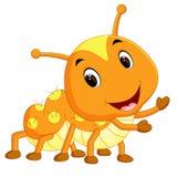 A yellow caterpillar cartoon. Illustration of a yellow caterpillar cartoon vector illustration