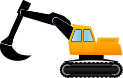 illustration yellow eskavator Royalty Free Stock Photo