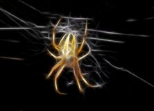 Illustration of yellow spider royalty free stock photography
