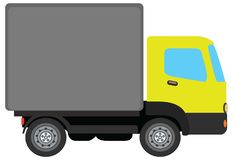 Yellow truck royalty free illustration