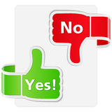 Yes and No. Illustration of Yes and No Signs royalty free illustration