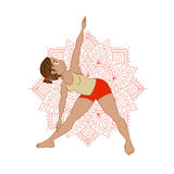 Illustration with yoga asana Stock Image