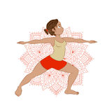 Illustration with yoga asana Royalty Free Stock Image