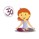 Illustration of yoga girl Royalty Free Stock Photo