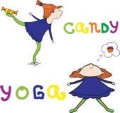 Illustration - Yoga Stock Photo