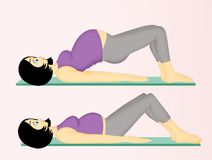 Yoga for pregnant women. Illustration of Yoga for pregnant women Royalty Free Stock Photography