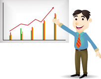 Illustration of young business people cartoon pres Royalty Free Stock Photo