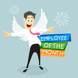 Illustration of young happy Businessman. Stock Photos