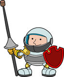Illustration of young knight Royalty Free Stock Photo