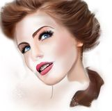 Illustration of a young lovely woman Royalty Free Stock Photo