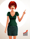 Illustration of young pretty woman. Stock Photo