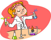 Illustration of a young scientist Stock Image