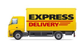 Yellow commercial transport Stock Photography