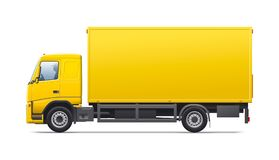 Yellow commercial transport stock image