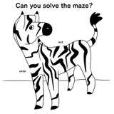 Illustration of a zebra maze Royalty Free Stock Image