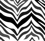 Zebra pattern. Illustration of a zebra pattern background in black, faded grey, and white Royalty Free Stock Images