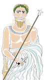 Zeus. Illustration of Zeus with a black outline Stock Images