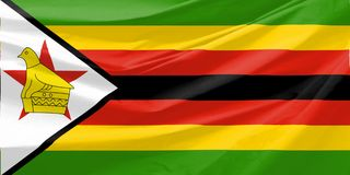 Illustration of zimbabwe Wavy Flag Royalty Free Stock Photo