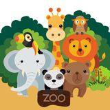 2018-07-05 Zoo1 royalty free illustration
